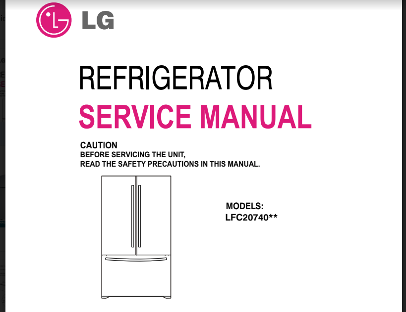 Manual Servicio Técnico Nevera L.G LFC2074