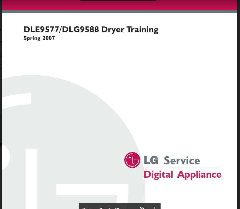 Manual Servicio Técnico Secadora L.g DLE9577 DLG9588