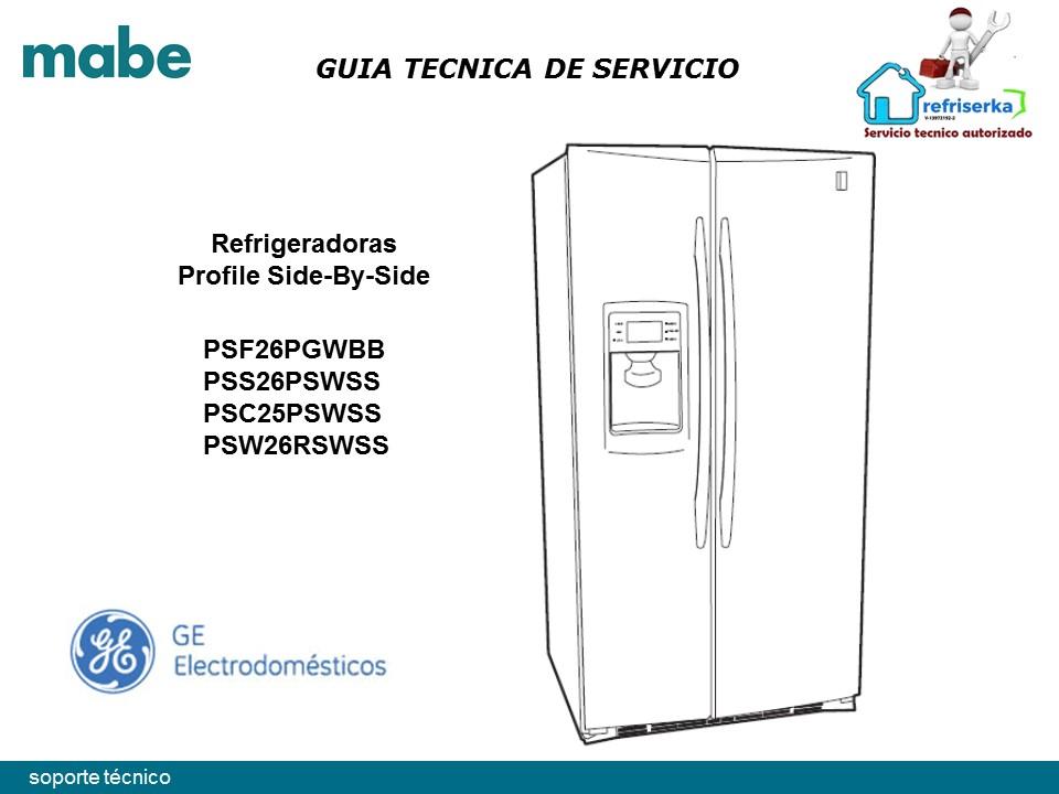 Manual Servicio Técnico Neveras S&S G.eÁrtica